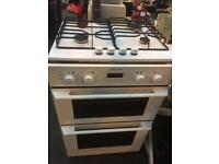 Integrated oven gas hob