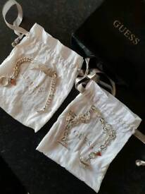 Genuine Guess necklace and bracelet
