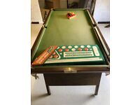 Snooker table to go