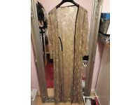 Lace detail beige maxi cardigan. Very pretty. Size 10-16. Only £10. New.