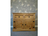 Mexican Pine Sideboard Solid Wood Chest of Drawers - FREE DELIVERY