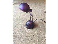 Ikea desk lamp - purple