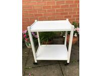 Vintage Painted Wooden tea Trolley (2available)