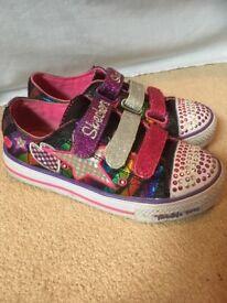 Girls Skechers twinkle toes