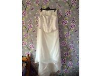 Beautiful size 16 Ivory wedding dress never used