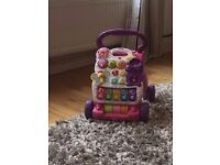 vtech baby walker & green mobile phone included