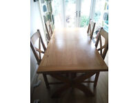 Oak Table And Chairs Reduced