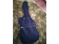 Jim Deacon electric guitar, extra-long lead and guitar case