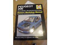 Hayes Peugeot 206 Owners Workshop Manal