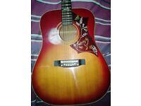 19 60/70's Japanese hummingbird vintage acoustic guitar £85 ono