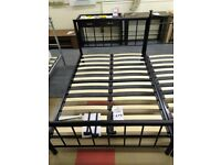 Double Bed Metal Frame Black