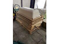 5 x VICTORIA PLUMB BOSTON L SHAPE SHOWER BATH BATHTUB RIGHT HAND 1700MM X 850MM