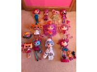 Lalaloopsy doll bundle - 10 Dolls plus soft doll and extra clothes