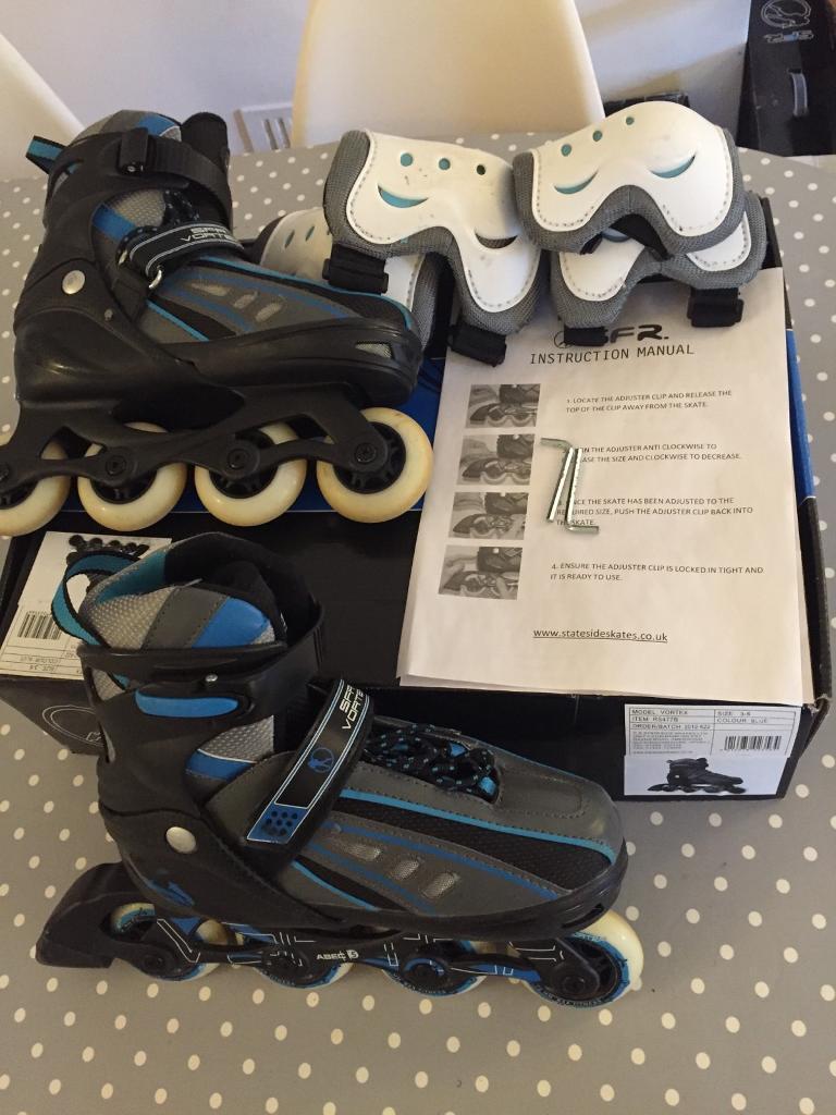 Adjustable inline skates size adult 3-6