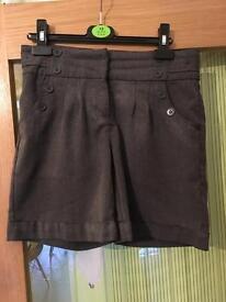 Next grey school shorts