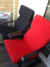 2 practically new lounging chairs, really comfortable and will suit many places.