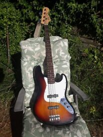 Sunburst jazz bass