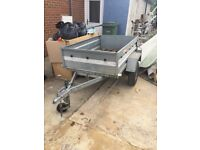 Erka tipping trailer 3foot4 inches x 5foot 2 inches