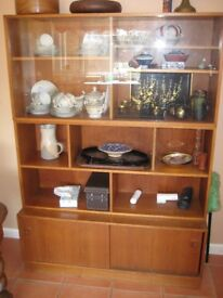 Vintage Wooden (Teak Veneer?) Display / Storage Unit