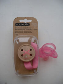 baby girl soother clip with ribbon