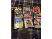 Brooms and Oor Willie Annuals 6 in Total and a Box full of Beano Comics 1986-1990