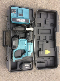 Erbauer SDS Hammer Action Drill - 36 V Li-ions battery - great condition