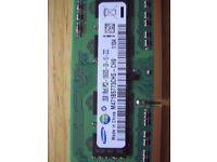 Samsung PC3 DDR3 SDRAM SO-DIMMS Laptop Memory 4gb