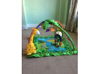 Jungle theme gym and floor mat