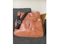 PacaPod Coromandel Tan Leather Changing Bag - EXCELLENT CONDITION