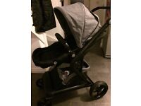 Grey and black pushchair only 7mth
