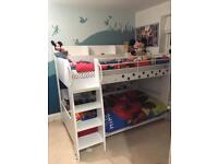 White Domino bunk beds - Used £180