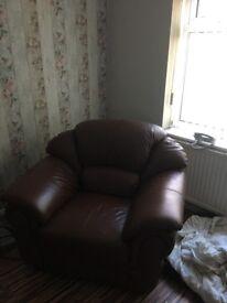 Nice brown leather sofas