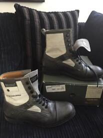 Genuine G star raw grey leather boot nearly new