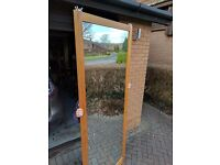 Two Wardrobe Mirrored Sliding Doors - Free to Collect