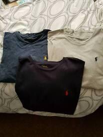 3x Ralph Lauren the shirts large