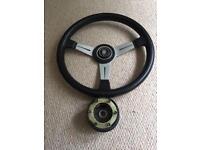 Nardi 350mm leather steering wheel