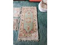 3 Chinese rugs in green.