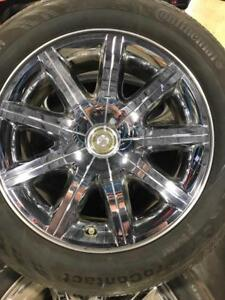 TRAX 0000 4- 225/60R18  CHRYSLER 300 RIMS AND TIRES ALL SEASONS 10/32nds tread $750 set of four