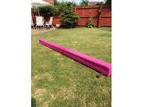 Gymnastics balancing bar and frame