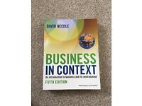 Business in Context textbook