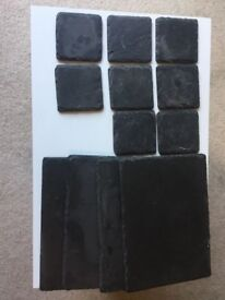 Slate placemats collection - (x4 plates and x8 coasters)