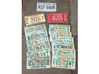 Number Plate Licence Plate Registration Plate USA American Automotive Collectible - Garage Office