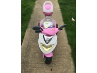 Girls electric pink scooter