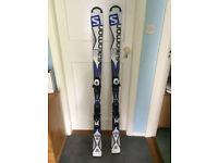 Salomon X-Drive Focus 160cm Skis with Bindings (Lithium 10) - Brand New, unused