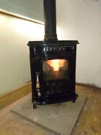 Wood coal multifuel burner stove
