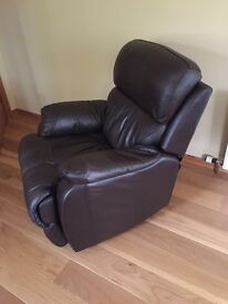 Leather recliner (as new condition) £150
