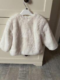 Baby girl white fur coat