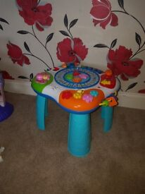 Stand and play table