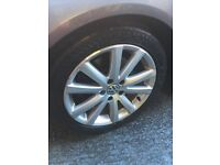 5x Vw Alloy wheels with new tyres!! 5/112