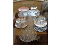 Cake stands. Wedding. Job lot £30 ONO